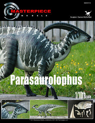 1/10th scale Parasaurolophus resin assembly kit