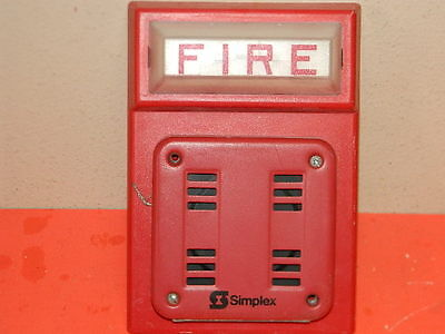 Simplex 2901-9838 Fire Alarm Horn And Base 4308-9101