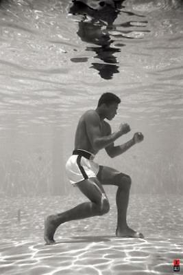 Muhammad Ali Underwater Boxing Sports Poster 24x36 inch