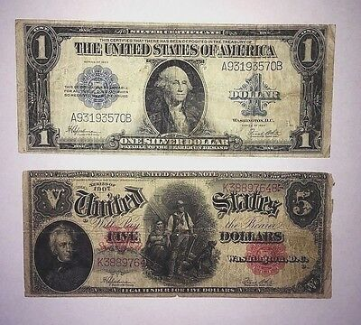 1907 $5 Woodchopper Red Seal and 1923 $1 Blue Seal Price drop