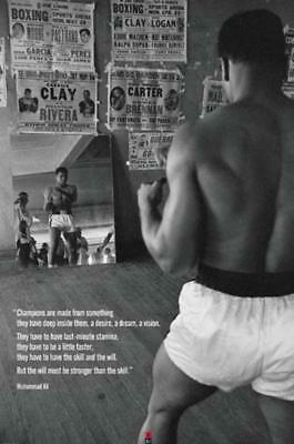 Muhammad Ali Champions Quote Motivational Boxing Poster 24x36 inch