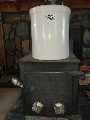 Vintage Blue Crown Robinson Ransbottom 5 Gallon Stoneware Pickling Crock