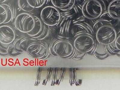 500 Gold Tone Jump Rings Double Loop Split Iron Steel Jewelry Making  7 mm D013