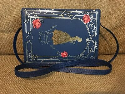 DISNEY TARGET BEAUTY and the BEAST Book Purse Navy Rose Bag Belle Jacqueline