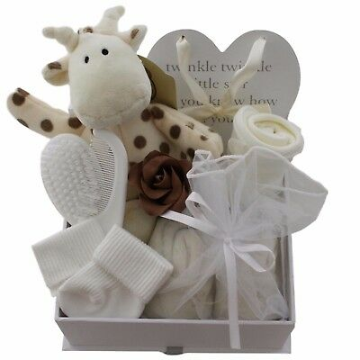 Baby gift basket/hamper unisex neutral baby shower new baby gift nappy cake