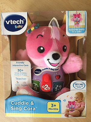 VTech Baby Cuddle and Sing Cora  Interactive Music Toy Shower Gift NEW NIB