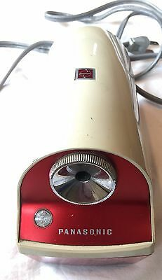 Vintage Panasonic Electric Pencil Sharpener Red Model KP5