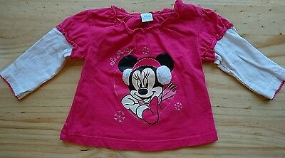 Disney MINNIE MOUSE Girls Long Sleeve Top 6-9 Months