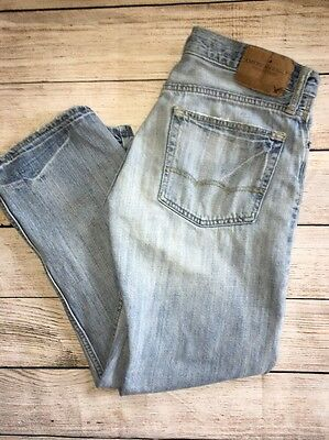 Men's American Eagle Jeans Relaxed Fit Light Wash 32x30