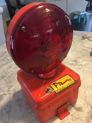 VINTAGE 1950s RAILROAD CROSSING SAFETY RED LIGHT: Railcar, Construction, Warning
