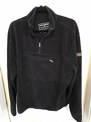 Polo Sport Ralph Lauren Men's XL Navy Long Sleeve Fleece Pullover *flaws*