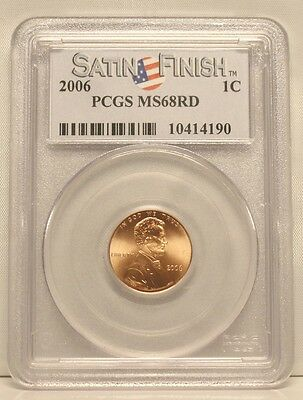 2006-P 1C Proof Lincoln Memorial Cent PCGS MS68 RD Red Satin Finish