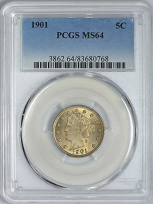 1901 Liberty Nickel PCGS MS64