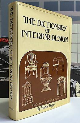 1966 The Dictionary of Interior Design by Pegler 2500 Illustrations Furniture HC