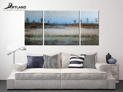Modern Oil PaintingFramed Landscape Wall Art Canvas Hand Painted US stock