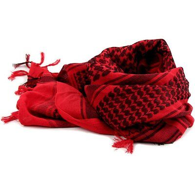 Military Army Shemagh Scarf Fashion Arab Tactical Desert KeffIyeh Cotton Red