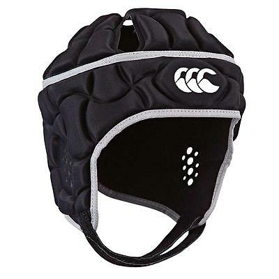 Canterbury Club Plus Rugby Headgear - BLACK + FREE AUS DELIVERY