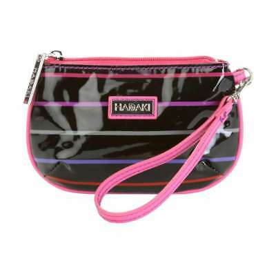 Hadaki Coated ID Wristlet Pencil Stripes Berry - 821PENSTBER