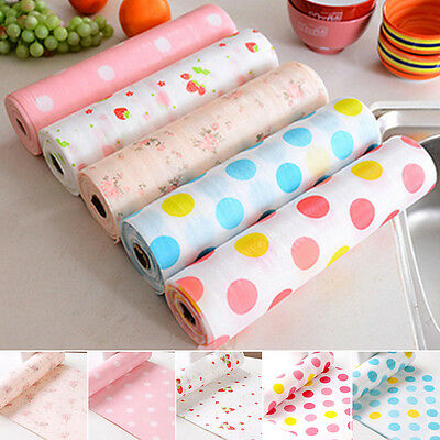 UK Flower Shelf Contact Paper Kitchen Table Cabinet Drawer Liner Mat Pad