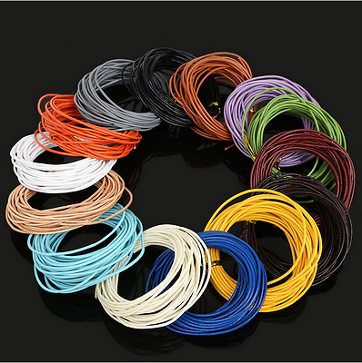 5 m 1.5/2.0 mm 14Colors Round Real Leather Jewelry Cord String Beading Cords Diy