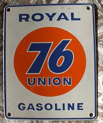 UNION 76 Royal small old original porcelain gas gasoline pump porcelain sign