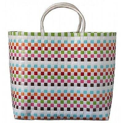 2 Pieces of Carry All Woven Tote Bags - Daisy Design
