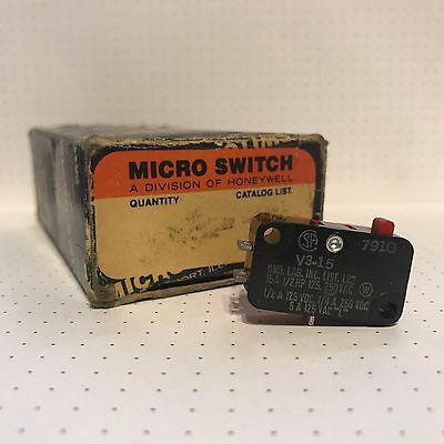 Honeywell Micro Switch V3-15 Micro Switch Pin Plunger SPDT 15A 250V
