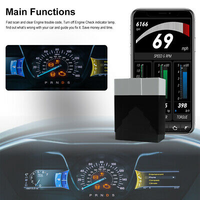 OBD2 Car Heavy Duty Truck Scanner Code Reader Check Engine Diagnostic Scan Tool