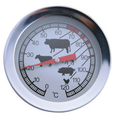 0-120℃ Stainless Steel BBQ Smoker Pit Grill Thermometer Temp Barbecue Camp