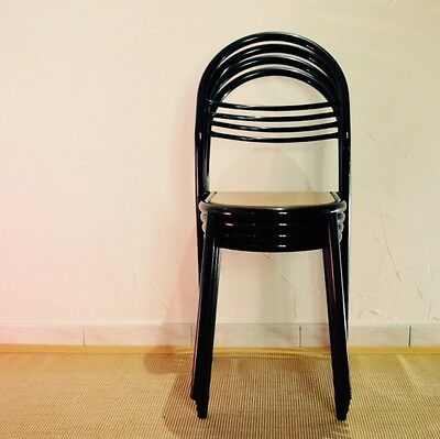RENE HERBST : x4 Chaises Vintage Design 1950 French Modernist Chair