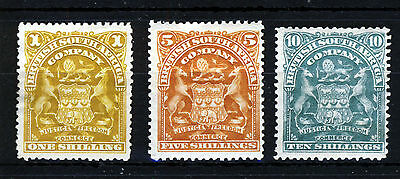 BRITISH CENTRAL AFRICA 1898-08 Arms Issue 1s. to 10s. SG 84, SG 87 & SG 89 MINT