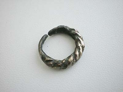 ANCIENT RARE Viking Twisted Silver BABY FINGER RING ca 9 - 10 century AD