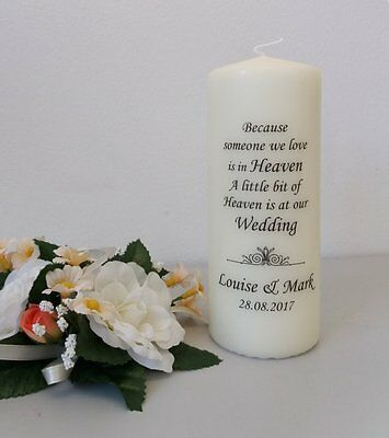 Personalised Wedding Absence or Memorial Candle Swirls 2017 (Heaven)