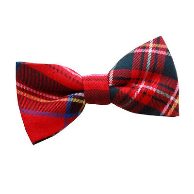 New Dqt Tartan Red Royal Stewart Men's Pre-Tied Bow Tie