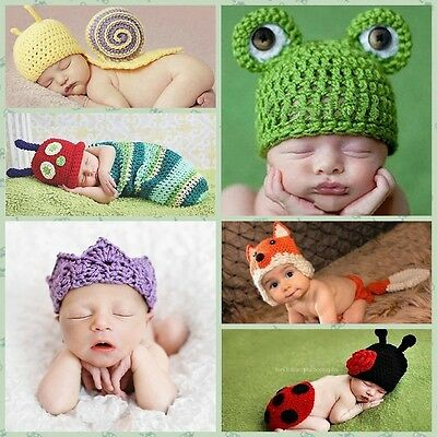Costume Photography Prop Outfit Baby Boy Girl Knit Clothes Newborn Photo Crochet