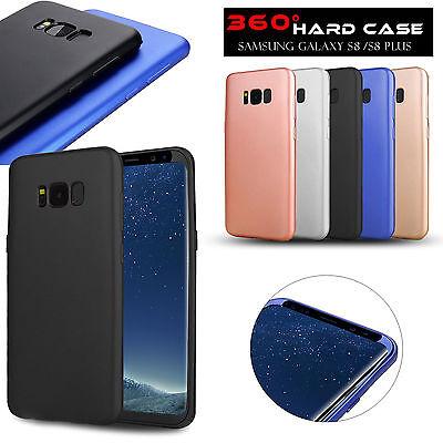 New 360° Case For Samsung Galaxy s8 in Black Bundled