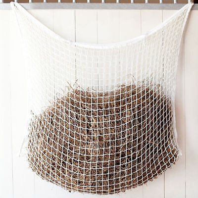 """Horze Slow Feed 1 1/2"""" Holes Hay Net NEW Off-White Less Waste Durable Convenient"""