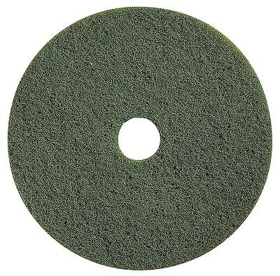"""Tough Guy 20"""" Green Scrubbing Pad, Polyester Fiber, Package Quantity 5 - 4RY15"""