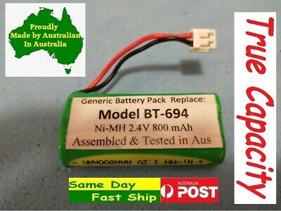Telstra V850 Ni-MH 2.4v 800mAh Cordless Phone Battery for Uniden BT-694 BT-694S