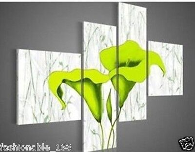 MODERN ABSTRACT WALL ART OIL PAINTING ON CANVAS 4pc(NO Frame)