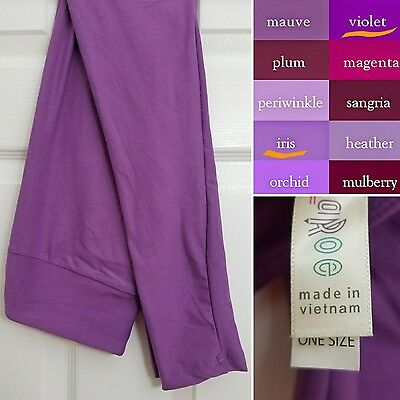 OS LuLaRoe Leggings *SOLID PURPLE* Violet One Size, Super Soft, NEW!