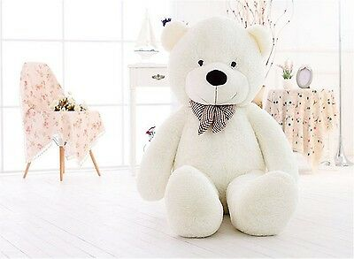 "Giant Teddy Bear 47"" Plush Toy Gift Huge Big White Soft Valentine Stuffed Animal"