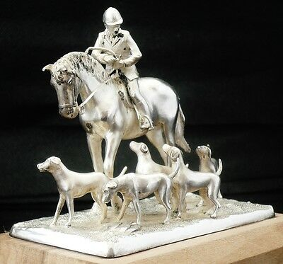 "Silver Model "" Master & Hounds"" , Birmingham 1978, Ammonite Ltd, Ltd Ed 102/1000"
