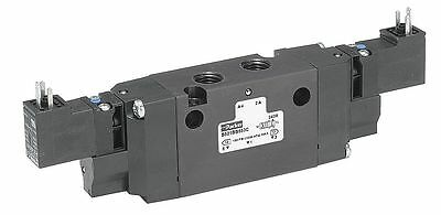 "Parker 3/8"" 120VAC 4-Way, 3-Position Solenoid Air Control Valve - B662BB553A"