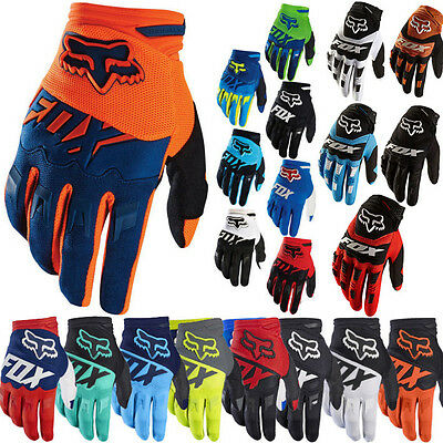 FOX Full Finger Cycling Bike Gloves Motorcycle Motorcross Offroad Sports M/L/XL