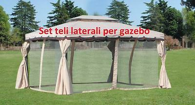 set 4 sheeting moschiera replacements for gazebo Adventure 3x4 mt mosquito net