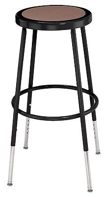 """NPS Round Stool with 25"""" to 33"""" Seat Height Range and 300 lb. Weight Capacity,"""