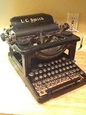Vintage LC Smith & Corona No: 8, 10 In Typewriter 1920/30's Working