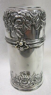 Vintage Ornate Silverplate Jar & Lid Wilcox Silver Plate Co Container 8020