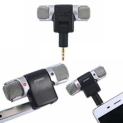 MINI MICROFONO STEREO PHONE SMARTPHONE REGISTRARE PC 3.5mm audio voce